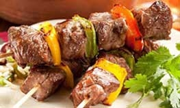 Beef Bites with Grilled Capsicum Recipe