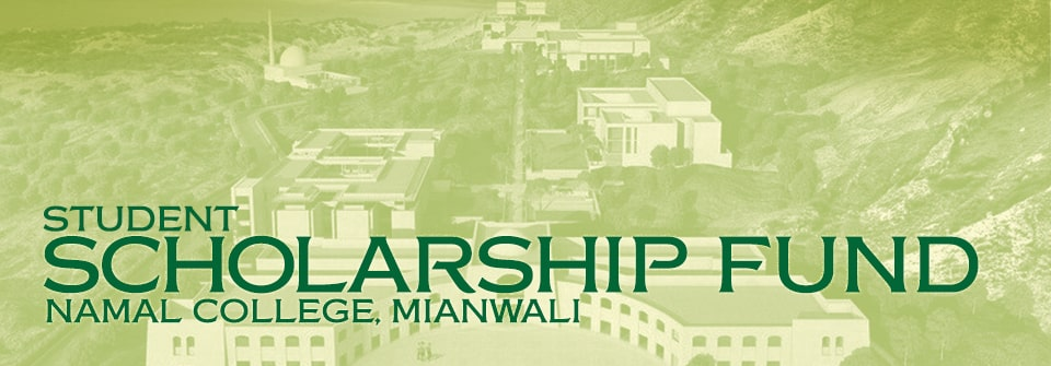 Kausar Namal College, Mianwali - Student Scholarship Fund Page Banner