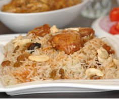 Fish Dry Fruit Biryani