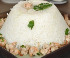 Garlic Shrimps with Boiled Rice